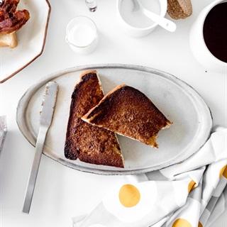 Cách làm Bánh toast đường quế