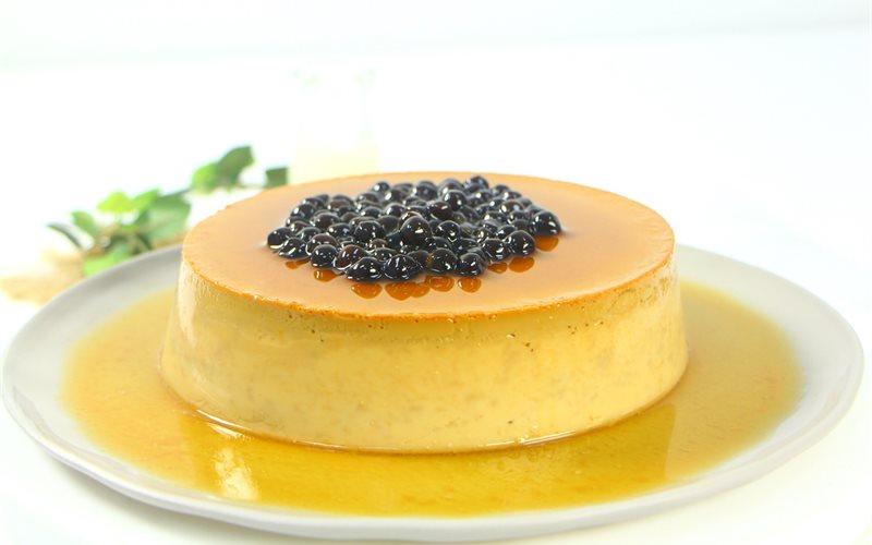Cách làm Bánh Flan Trà Sữa với trân châu đường đen