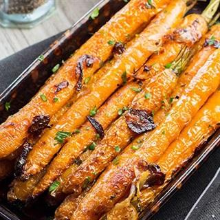 Cách làm Cà rốt nướng tỏi