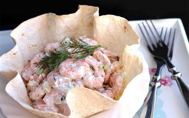 Cách làm Salad tôm sốt mayonnaise