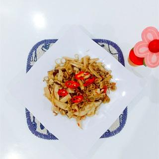 Cách làm Nấm đùi gà xào sả ớt chay