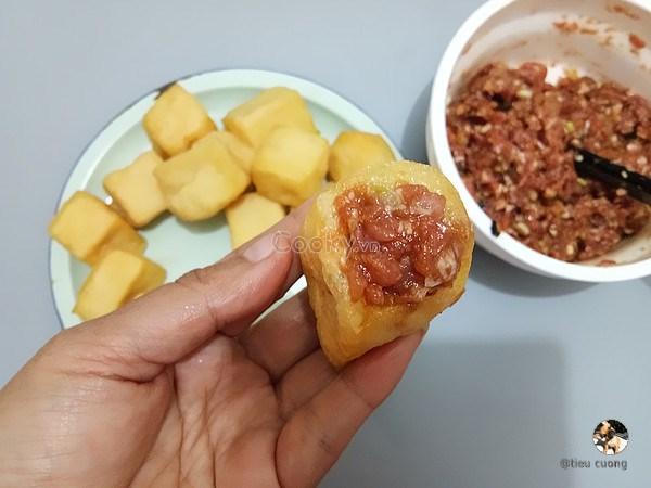cách làm đậu hũ nhồi thịt