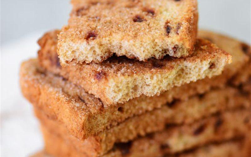 Cách làm Snack bánh mì nướng đường quế