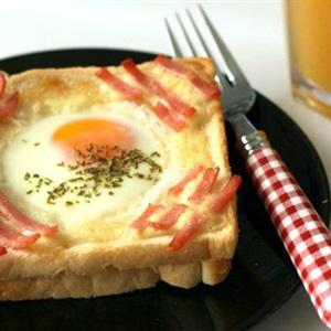 Bánh toast trứng thịt nguội