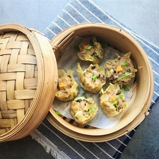 Cách làm Xíu mại chay nhân gạo nếp và nấm