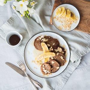 Bánh pancake yến mạch chuối