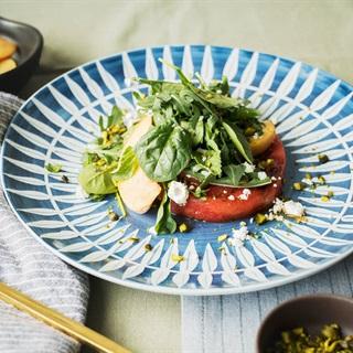 Cách làm Salad đào và dưa hấu nướng