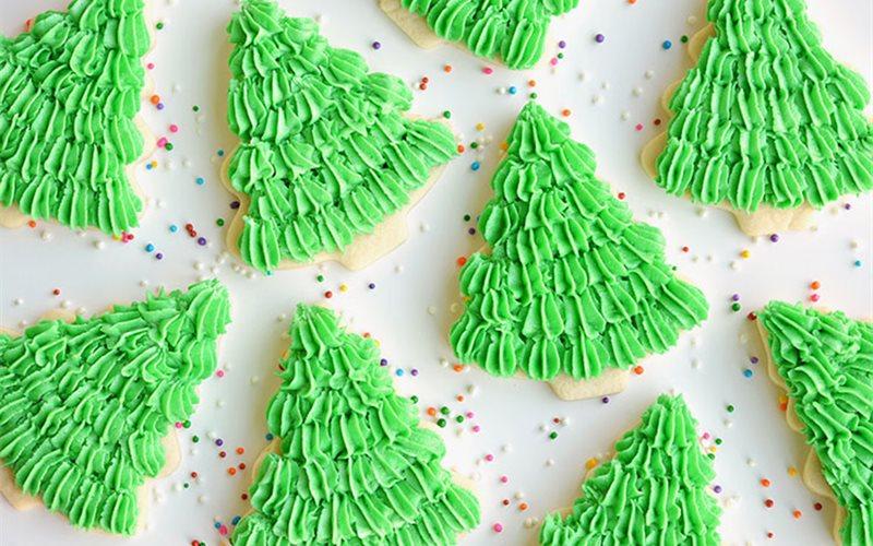 Cách làm Bánh cookies cây thông Giáng Sinh