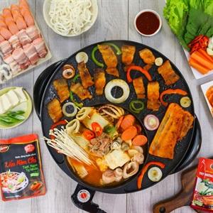 Lẩu kim chi và thịt nướng Hàn Quốc