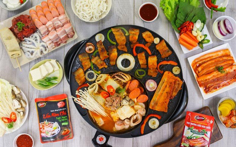 Cách nấu Lẩu kim chi và thịt nướng Hàn Quốc