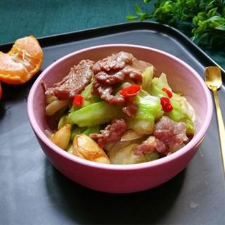 Cách làm thịt bò xào bắp cải cay thơm