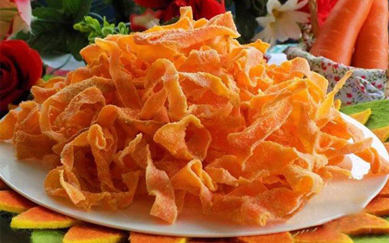 Cách làm Mứt cà rốt sợi ngày Tết