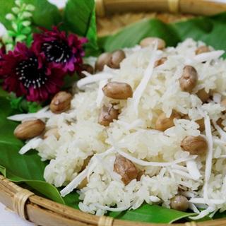 Cách làm xôi đậu phộng dừa bùi béo