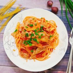 Mỳ Ý gà nấm