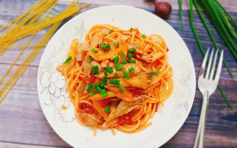 Cách làm mỳ Ý gà nấm