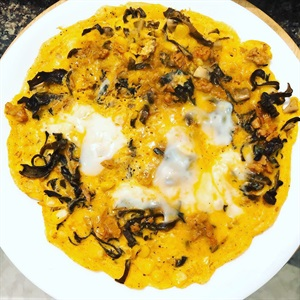 Trứng vịt chiên cá ngừ nấm eatclean