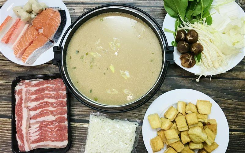 Cách làm lẩu sữa đậu nành kiểu Nhật