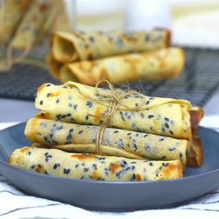 Cách làm Bánh Quế cuộn cực đơn giản bằng chảo ngay tại nhà