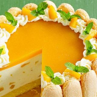 Cách làm Bánh Lady Finger Kem Xoài chua ngọt béo thơm
