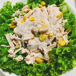 Salad sốt cá ngừ trộn ức gà