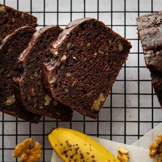 Cách làm Bánh Mì Chuối Chocolate Hạt Óc Chó bổ dưỡng