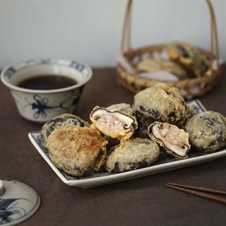 Cách làm Nấm Đông Cô Nhồi Tôm Chiên giòn béo ngay tại nhà