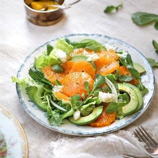Cách làm Salad Bơ Quýt xà lách dầu giấm cho nàng giảm cân