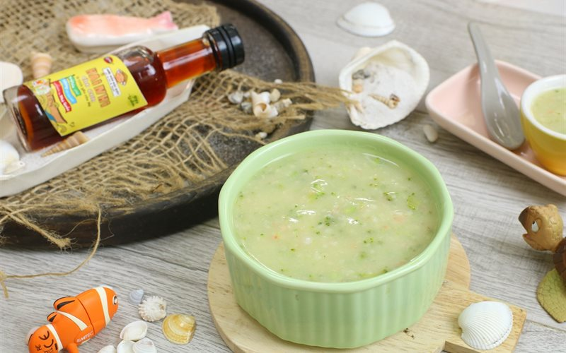 Cách làm món Súp Tôm Bông Cải Xanh thơm ngon bổ dưỡng cho bé ăn dặm