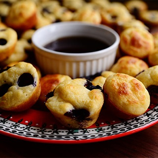 Cách làm Bánh Muffins Việt Quất Mini mếm xốp chua ngọt
