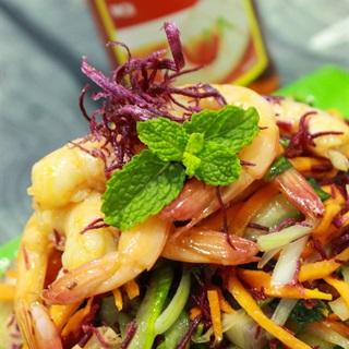 Cách làm Gỏi Khoai Lang Tôm Thịt dưa leo chua ngọt tại nhà