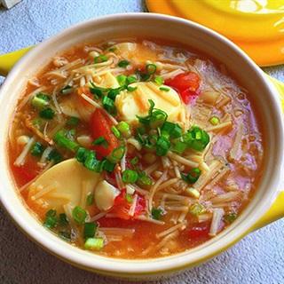 Cách làm Súp Nấm Đậu Hũ cà chua giúp giảm cân hiệu quả