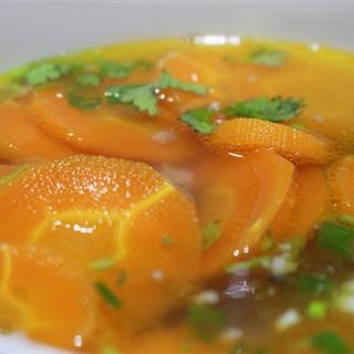 Cách làm canh cà rốt thịt băm