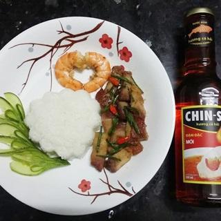 Cách làm Heo Quay Kho Tôm Sú nước mắm CHIN-SU hương cá hồi