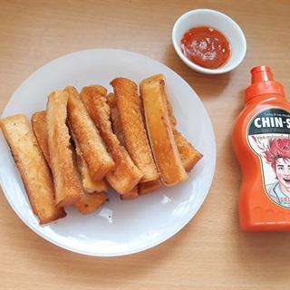 Cách làm Sandwich chiên bơ giòn chấm tương ớt CHIN-SU