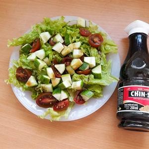 Salad dưa leo cà chua nước tương CHIN-SU