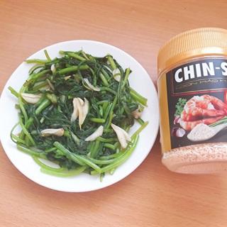 Cách làm Rau Tần Ô Xào Tỏi hạt nêm CHIN-SU đậm đà hương vị