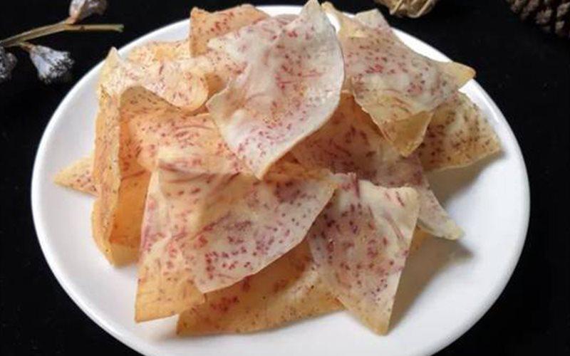 Cách làm Snack Khoai Môn nướng giòn rụm đơn giản tại nhà
