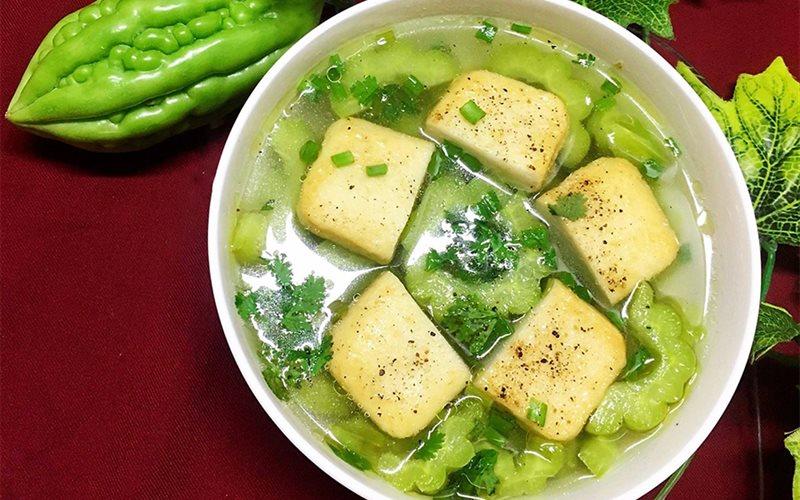 Cách nấu Canh khổ qua đậu hũ cá thanh mát bổ dưỡng