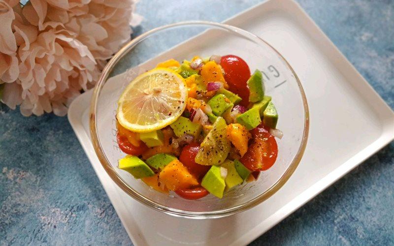 Cách làm Salad Cà Chua Xoài Bơ ăn kiêng cực thơm ngon