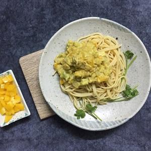 Spaghetti sốt trái bơ yougurt