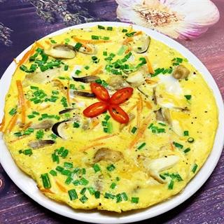Cách làm Trứng Vịt Chiên Cà Rốt Và Nấm thơm béo bổ dưỡng