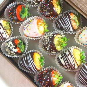 Dâu nhúng socola - Chocolate Covered Strawberry