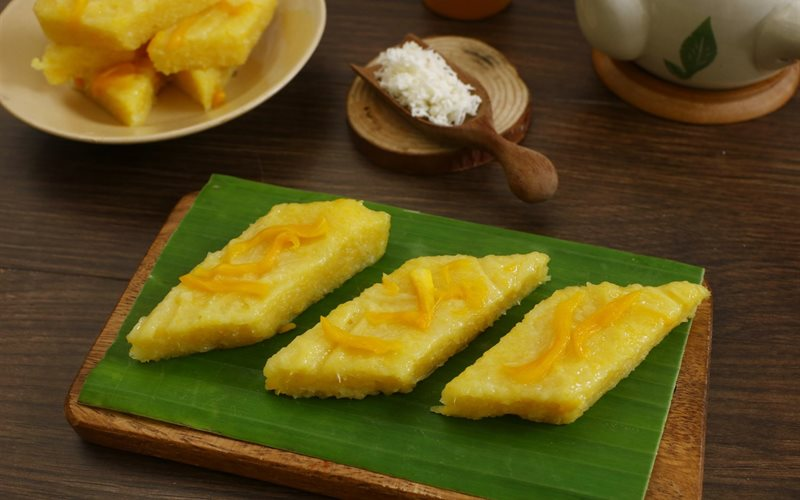 Cách làm Bánh Khoai Mì Mít Hấp nước cốt dừa tại nhà