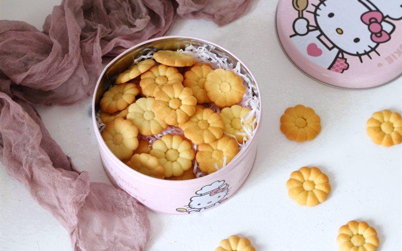 Cách Làm Bánh Quy Bơ Hình Hoa Cúc Hương Trái Cây Giòn Tan