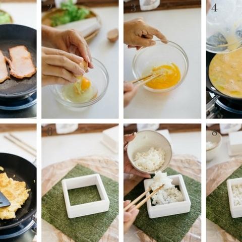 Cơm nắm trứng thịt nguội