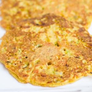 Pancake rau củ kiểu Ấn