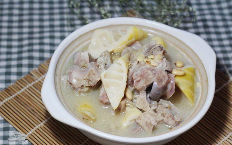 Cách nấu Canh Giò Heo Hầm Măng Tươi đậu nành, ngon cực đỉnh