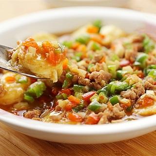 Cách làm Đậu Hũ Trứng Sốt Thịt Băm cho bữa cơm gia đình