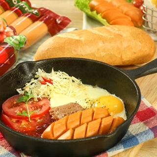 Cách làm Bánh Mì Chảo Xúc Xích thơm ngon cho bữa sáng