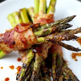 Cách làm Măng Tây Cuôn Bacon Nướng Sốt Miso giòn béo
